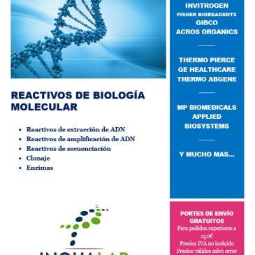 Catálogo de reactivos de biología molecular 2018